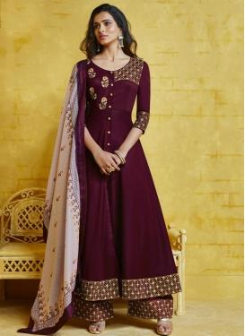 Cotton Satin Readymade Designer Salwar Suit