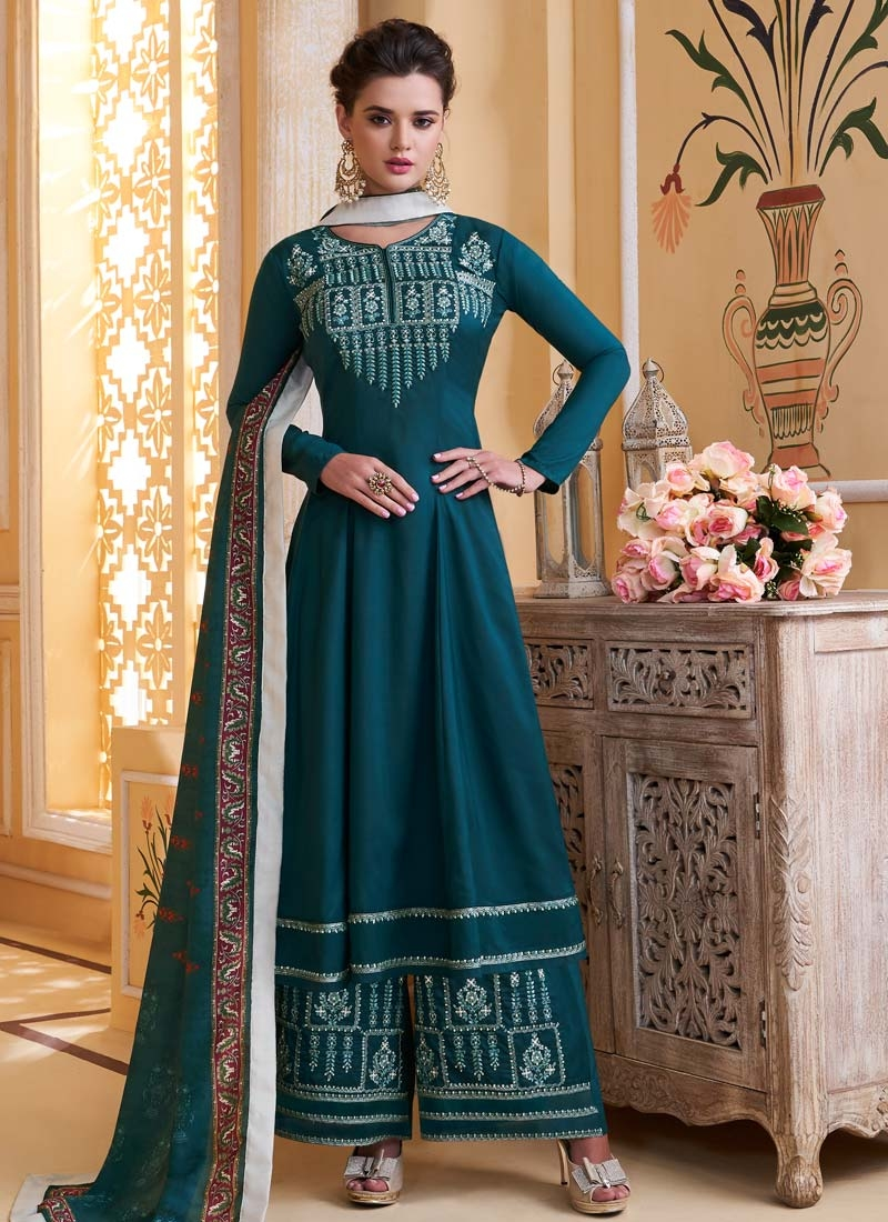 Cotton Satin Readymade Salwar Kameez