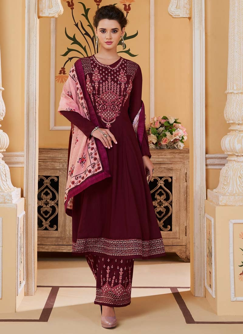 Cotton Satin Readymade Salwar Suit For Festival