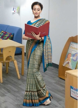 Cotton Satin Traditional Saree For Casual