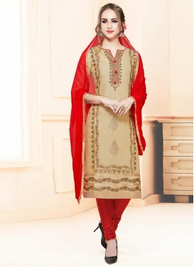 Cotton Satin Trendy Churidar Salwar Suit For Ceremonial