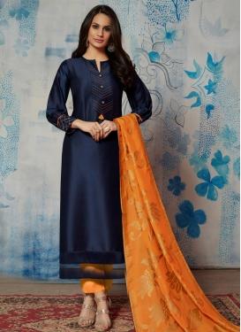 Cotton Satin Woven Work Readymade Designer Salwar Suit