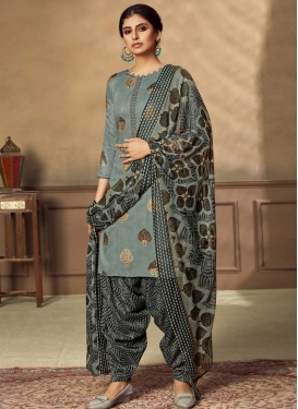Cotton Semi Patiala Salwar Kameez