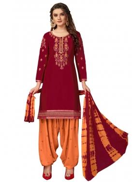Cotton Semi Patiala Salwar Kameez For Casual