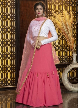 Cotton Silk A Line Lehenga Choli