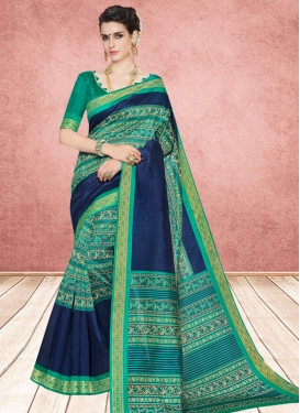 Cotton Silk Abstract Print Multi Colour Casual Saree
