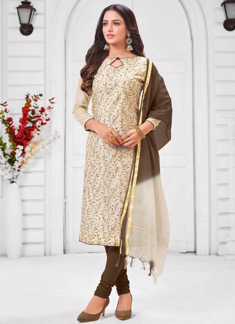 Cotton Silk Churidar Salwar Kameez