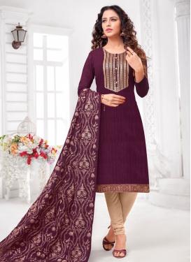 Cotton Silk Churidar Salwar Suit