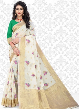 Cotton Silk Contemporary Style Saree For Ceremonial
