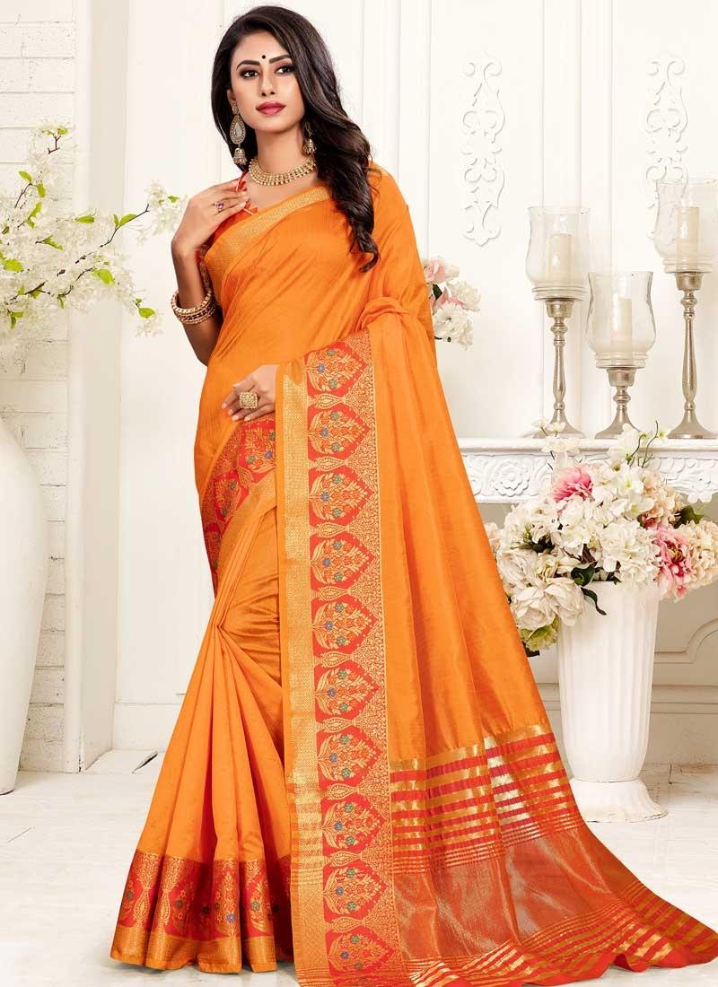Cotton Silk Contemporary Style Saree For Ceremonial