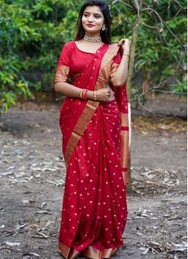 Cotton Silk Designer Contemporary Saree For Casual