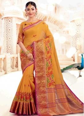 Cotton Silk Designer Contemporary Saree For Ceremonial