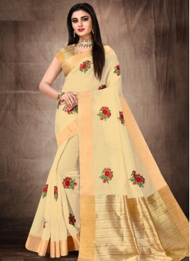Cotton Silk Designer Contemporary Saree For Festival