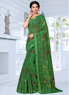 Cotton Silk Designer Contemporary Style Saree For Casual