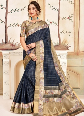 Cotton Silk Designer Contemporary Style Saree For Ceremonial