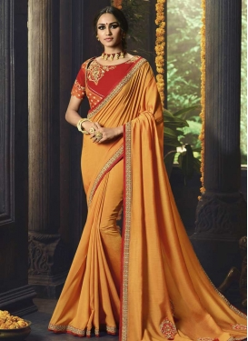 Cotton Silk Designer Contemporary Style Saree For Festival
