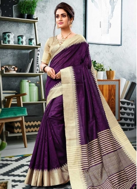Cotton Silk Designer Traditional Saree For Festival