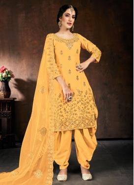 Cotton Silk Embroidered Work Readymade Salwar Suit