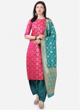 Cotton Silk Pakistani Straight Salwar Kameez