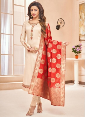 Cotton Silk Pakistani Straight Salwar Kameez For Ceremonial