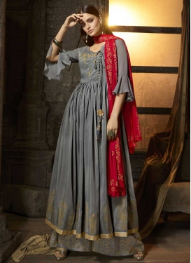 Cotton Silk Palazzo Designer Salwar Kameez