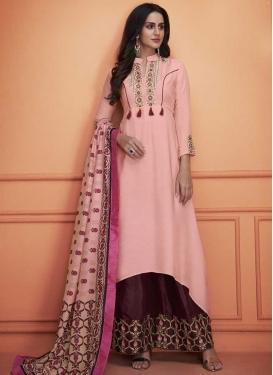 Cotton Silk Palazzo Designer Salwar Kameez For Festival
