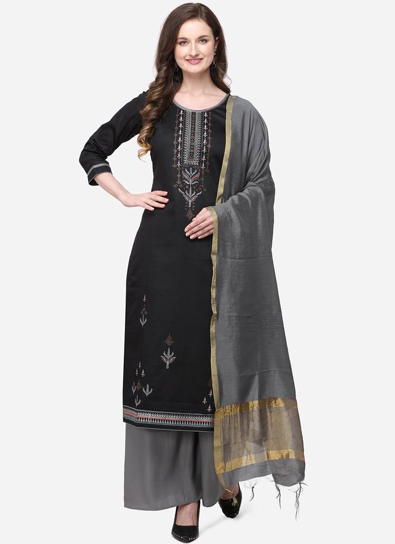 Cotton Silk Palazzo Style Pakistani Salwar Kameez