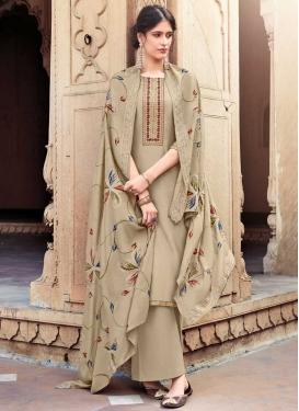 Cotton Silk Palazzo Style Pakistani Salwar Kameez For Ceremonial