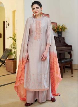 Cotton Silk Palazzo Style Pakistani Salwar Suit