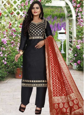 Cotton Silk Pant Style Classic Salwar Suit For Casual