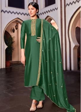 Cotton Silk Pant Style Pakistani Salwar Kameez