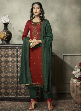 Cotton Silk Pant Style Pakistani Salwar Suit