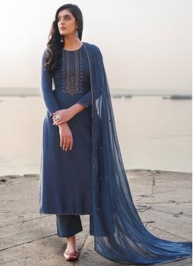 Cotton Silk Pant Style Pakistani Suit For Ceremonial