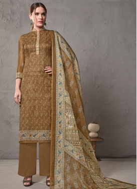 Cotton Silk Pant Style Pakistani Suit For Festival