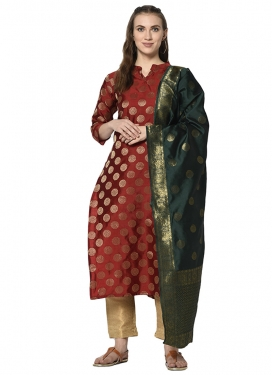 Cotton Silk Pant Style Salwar Suit