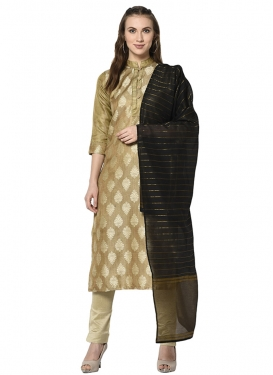 Cotton Silk Pant Style Straight Salwar Kameez