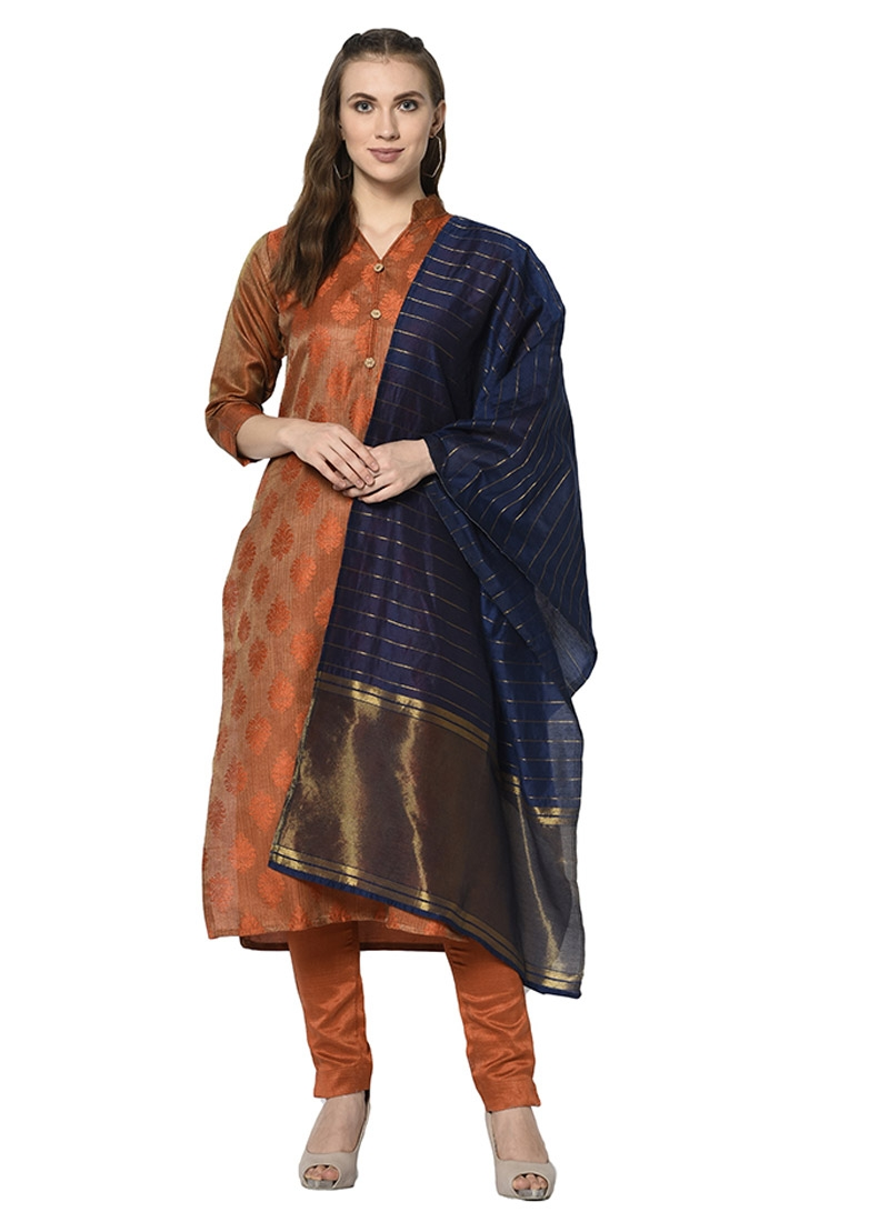 Cotton Silk Pant Style Straight Salwar Suit