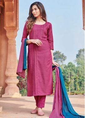 Cotton Silk Readymade Designer Salwar Suit