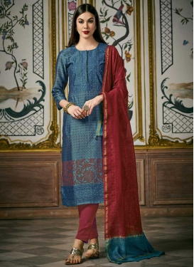 Cotton Silk Readymade Designer Salwar Suit For Festival