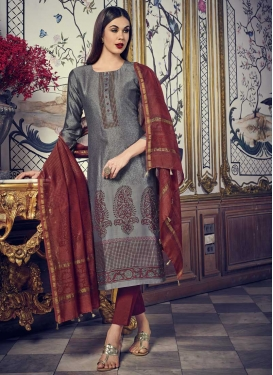 Cotton Silk Readymade Designer Suit For Festival