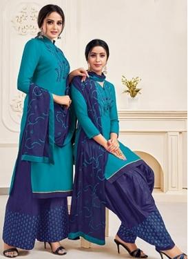 Cotton Silk Straight Salwar Kameez For Casual
