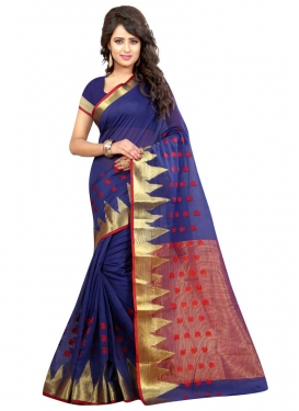 Cotton Silk Thread Work Classic Saree