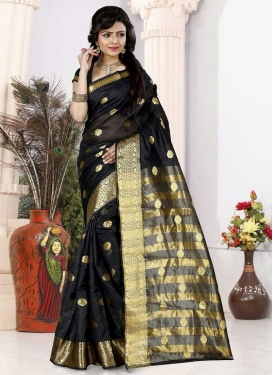 Cotton Silk Thread Work Contemporary Style Saree