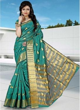 Cotton Silk Thread Work Designer Contemporary Saree