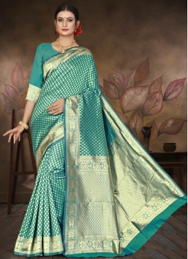 Cotton Silk Thread Work Designer Contemporary Saree