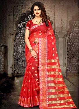 Cotton Silk Thread Work Designer Traditional Saree
