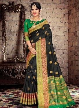 Cotton Silk Thread Work Traditional Designer Saree