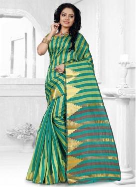 Cotton Silk Thread Work Trendy Classic Saree