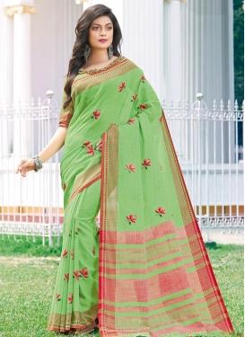 Cotton Silk Traditional Designer Saree For Casual
