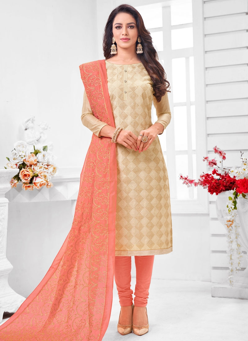 Cotton Silk Trendy Churidar Salwar Kameez